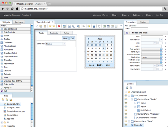 IBM发布开源HTML5可视化设计工具Maqetta