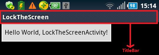 [转]Android系统设置全屏、取消标题栏 - ququ - linux 学习