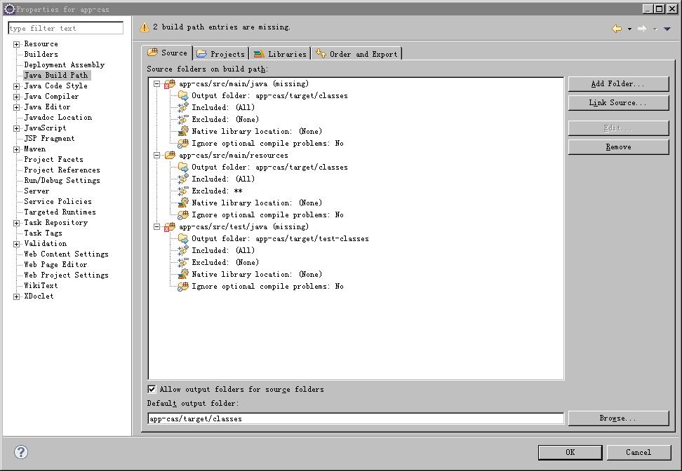 基于maven的web 工程配置