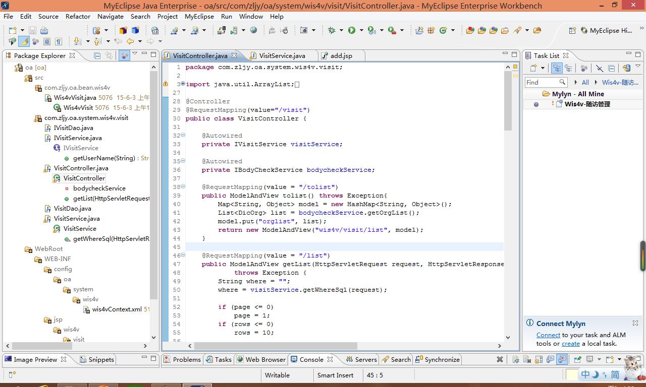 ? ? ? ? 近期由于项目进度不是太紧,想体验一下MyEclise 2014,但是由于项目开发中使用MyEclipse 8.6,在2014上项目导入有些问题,无法识别为Web项目,也就无法再2014上愉快的玩耍了,但是发现了2014一个极好的功能Mylyn插件,可以实现任务上下文管理。于是就想着把Mylyn插件安装到MyEclipse 8.