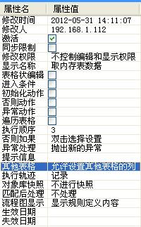 """然后设置该jsp页面的模板文件为""""纵横表格显示"""",显示导航属性为"""""""