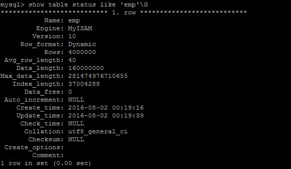 存储引擎既能在创建表的时候指定,如 CREATE TABLE TABLE_NAME ( COLUMN1 ... ) engine = engine_name; 如果创建表时未指定存储引擎,则使用默认的存储引擎 也能在建完表后修改存储引擎,如 ALTER TABLE TABLE_NAME engine = engine_name;  各存储引擎比较