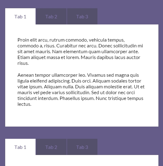 jQuery 滑动选项卡jQuery tabulous.js