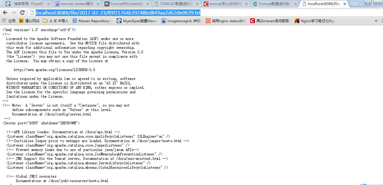 通过 tomcat 访问文件目录下的文件